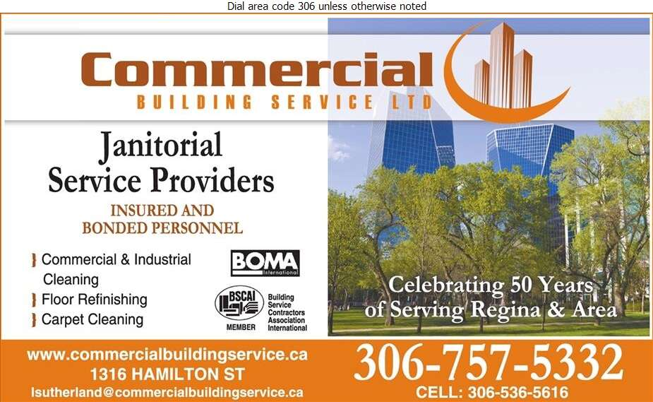 Commercial Building Service Ltd - Janitor Service Digital Ad