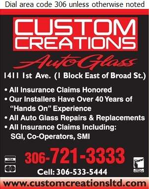 Custom Creations Auto Glass - Glass Auto, Float, Plate, Window Etc Digital Ad