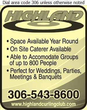 Highland Curling Club (Lounge) - Halls & Auditoriums Digital Ad