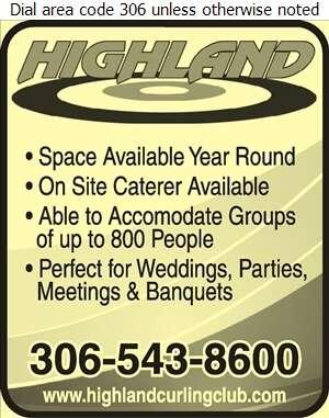 Highland Curling Club (Lounge) - Halls & Auditoriums Digital Ad