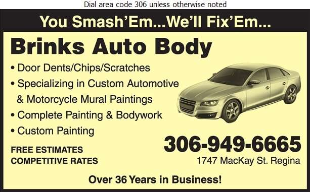Brinks Auto Body - Auto Body Repairing Digital Ad