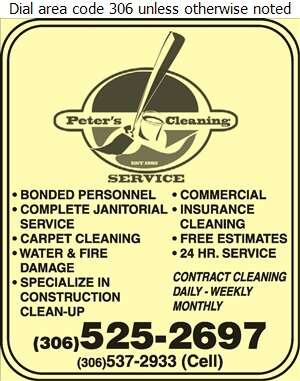 Peter's Cleaning Service Inc - Janitor Service Digital Ad