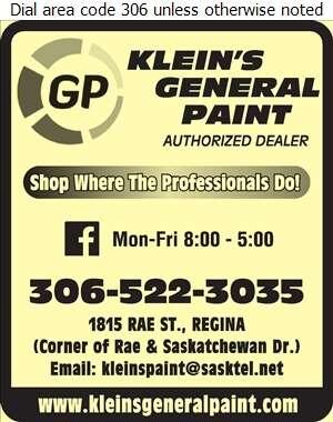 Klein's General Paint - Paint Retail Digital Ad