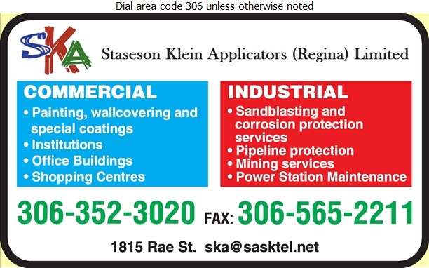 Staseson Klein Applicators (Regina) Limited - Painting Contractors Digital Ad