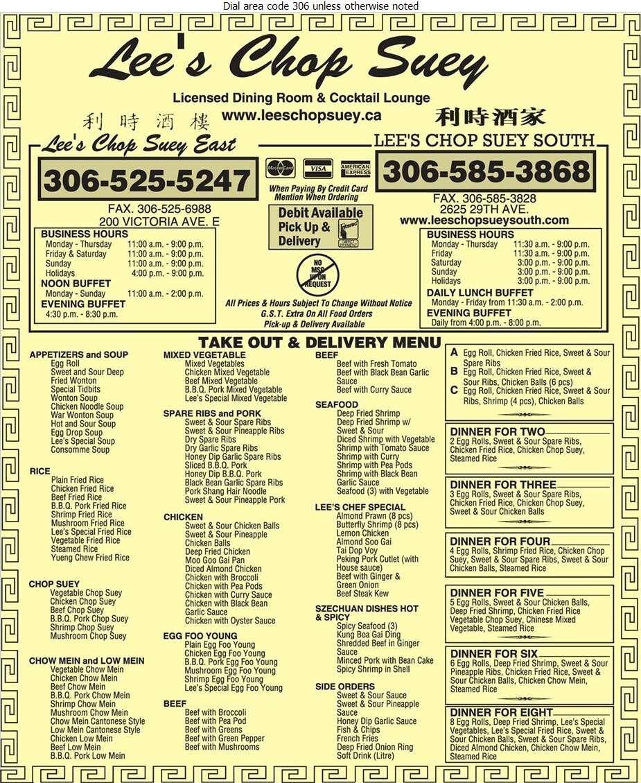 Lee's Chop Suey (1989) Ltd - Chinese Foods Digital Ad