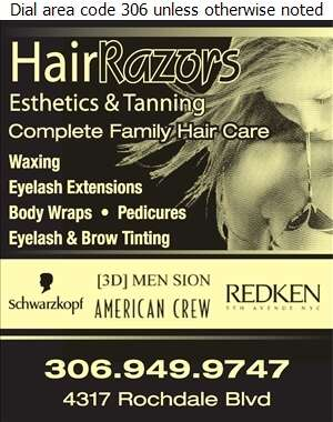 Hairrazors Cutting Team - Beauty Salons Digital Ad
