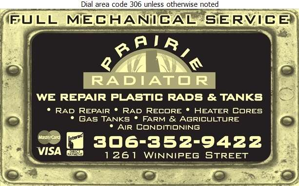 Prairie Radiator - Radiators Auto & Industrial Digital Ad