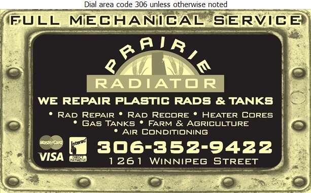 Prairie Radiator - Radiators Auto & Industrial Digital Ad