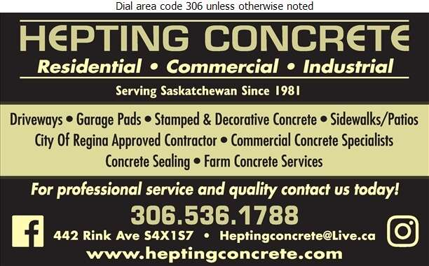 Hepting Concrete Limited - Concrete Contractors Digital Ad