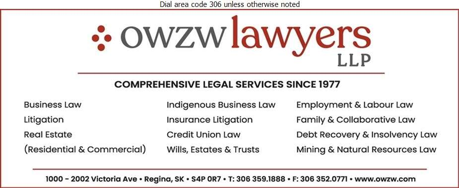 Olive Waller Zinkhan & Waller LLP (Barristers & Solicitors) - Lawyers Digital Ad