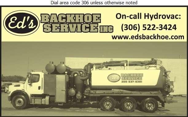 Ed's Backhoe Service Inc (Shop) - Hydrovac Contractors Digital Ad