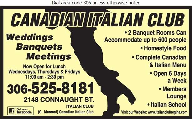 Italian Club - Caterers Digital Ad