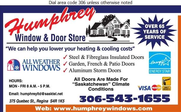 Humphrey Window & Door Store - Doors Household Sales & Service Digital Ad