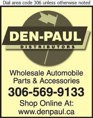 Den-Paul Distributors Ltd - Auto Parts & Supplies Whol & Mfrs Digital Ad