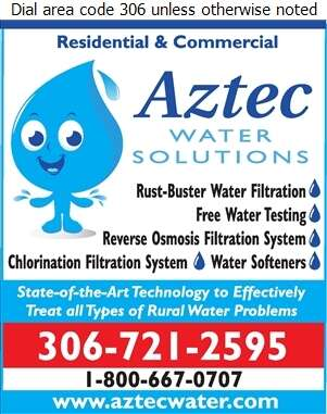 Aztec Water Solutions - Water Purification Equipment Digital Ad