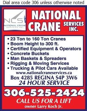 National Crane Services Inc - Crane Service Digital Ad