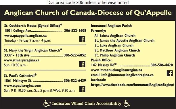 Diocese Of Qu'Appelle - Church Organizations & Clergy Digital Ad