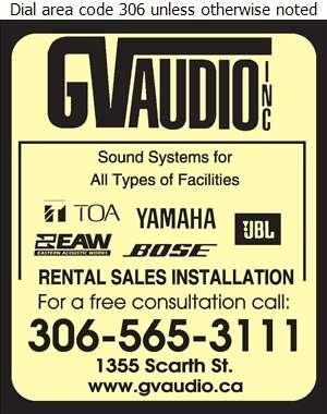 GV Audio Inc - Audio Visual Production Service Digital Ad