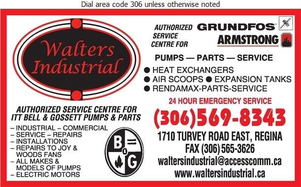 Walter's Industrial Mechanical Ltd - Pumps Digital Ad