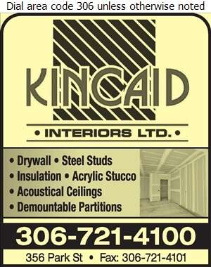 Kincaid Interiors Ltd - Drywall Contractors Digital Ad
