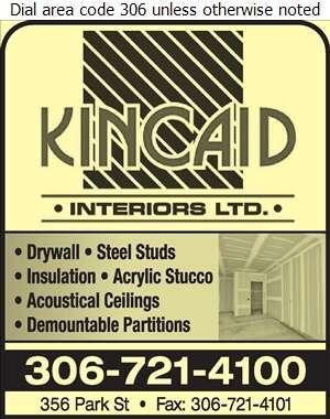 Kincaid Interiors Ltd - Drywall Contractors Digital Ad