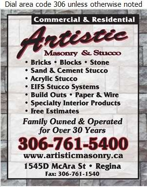 Artistic Masonry & Stucco - Brickwork & Masonry Digital Ad