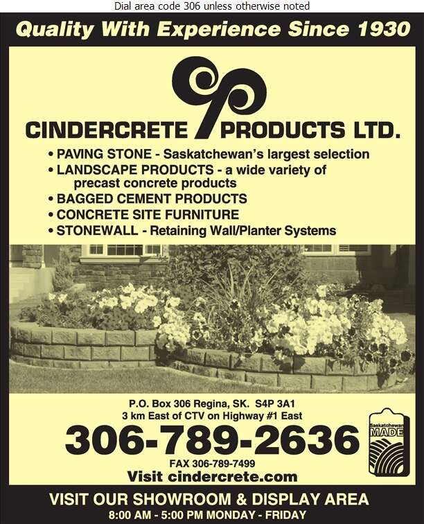 Cindercrete Products Ltd (Bill McMillan Res) - Concrete Products Digital Ad