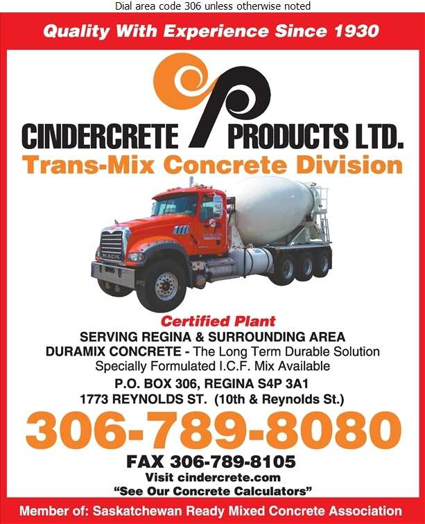 Cindercrete Products Ltd (Russ Lebell Residential) - Concrete Ready Mixed Digital Ad