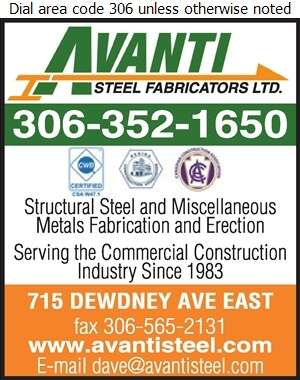 Avanti Steel Fabricators Ltd - Welding Digital Ad