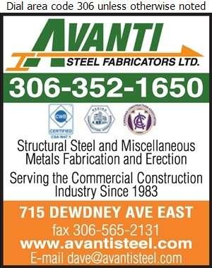 Avanti Steel Fabricators Ltd - Steel Fabricators Digital Ad