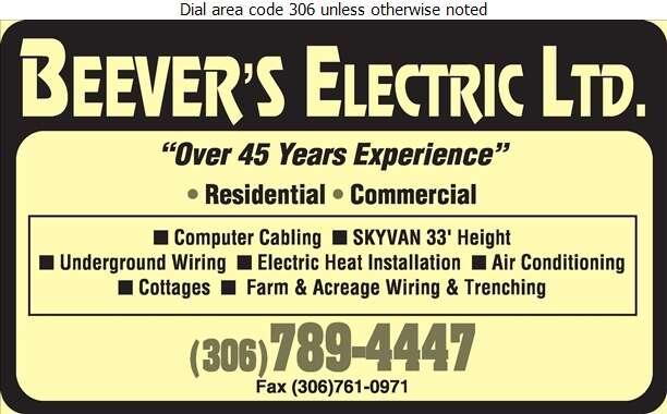 Beever's Electric Ltd - Electric Contractors Digital Ad