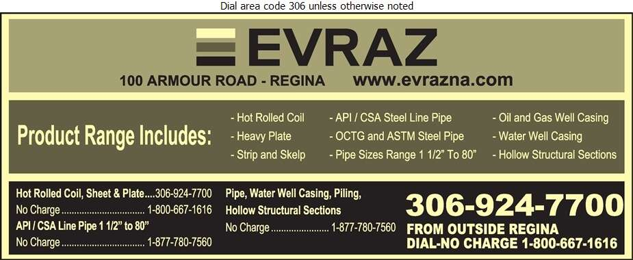 EVRAZ North America - Pipe Manufacturers Digital Ad