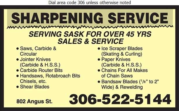 Sharpening Service - Sharpening Service Digital Ad