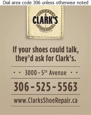 Clark's Luggage & Shoe Repair - Shoe Repairing Digital Ad