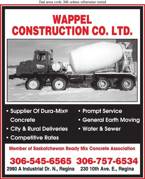 Wappel Construction Co Ltd (Plant 2) - Concrete Ready Mixed Digital Ad