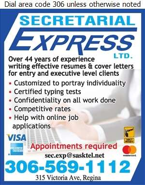 Secretarial Express Ltd - Resume Service Digital Ad