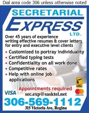 Secretarial Express Ltd - Resume Service Digital Ad