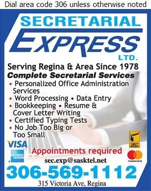 Secretarial Express Ltd - Secretarial Services Digital Ad