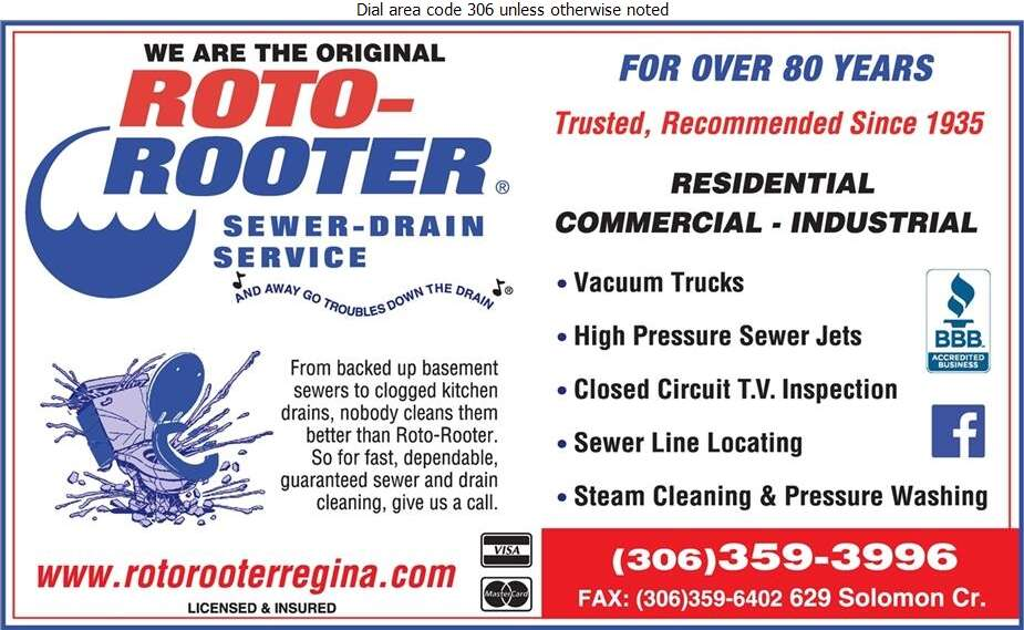 Roto-Rooter Sewer & Drain Service - Sewer Contractors Digital Ad