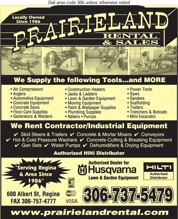 Prairieland Rental & Sales - Rental Service General Digital Ad