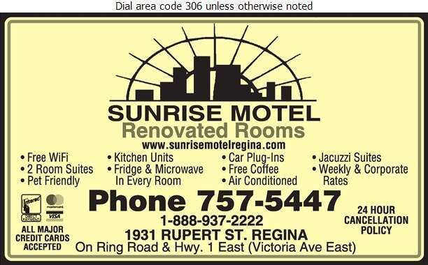 Sunrise Motel - Motels Digital Ad