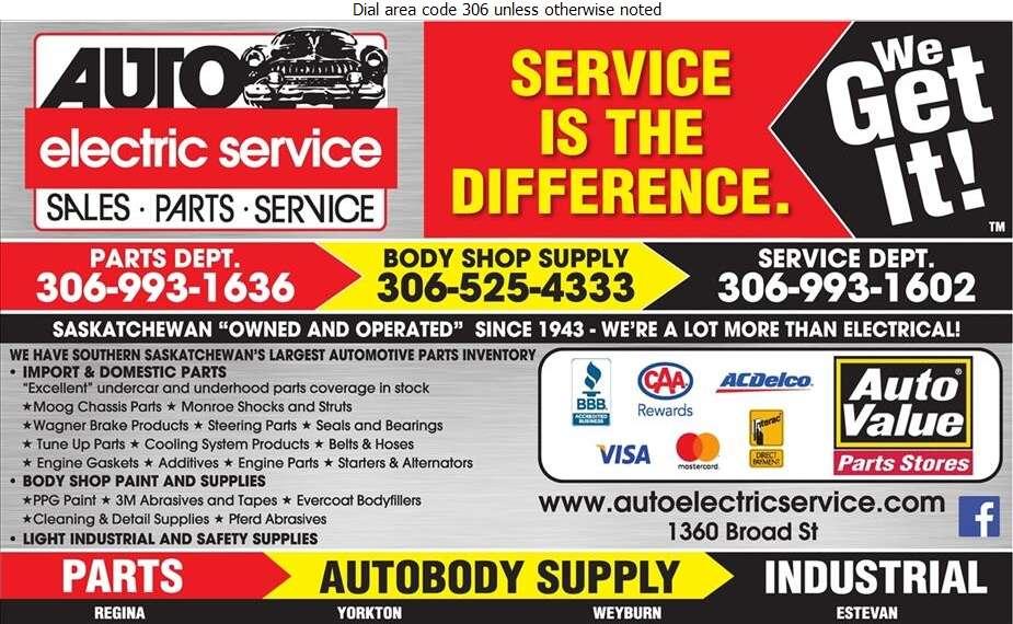 Auto Electric Service Ltd - Auto Parts & Supplies Retail Digital Ad