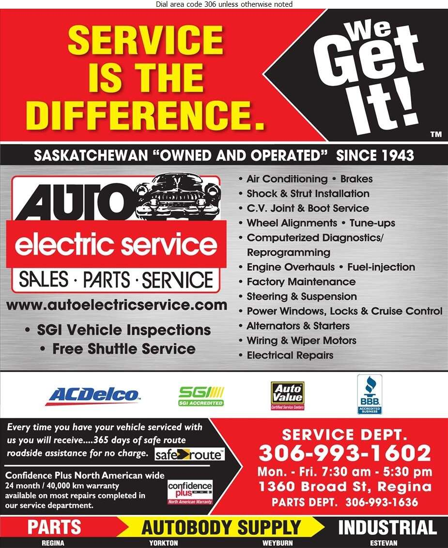 Auto Electric Service Ltd - Auto Repairing Digital Ad