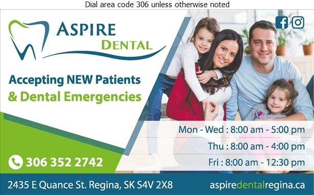 Aspire Dental Regina - Dentists Digital Ad