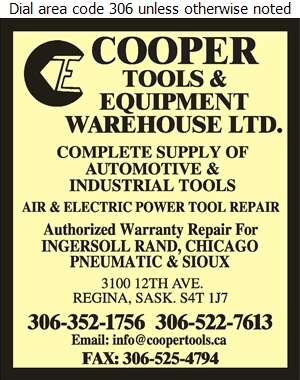 Cooper Tools & Equipment Warehouse Ltd - Tools Digital Ad