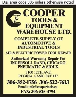 Cooper Tools & Equipment Warehouse Ltd - Tools Digital Ad