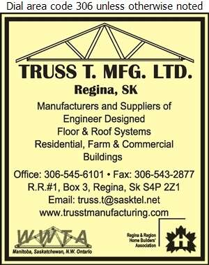 Truss T Mfg Ltd - Roof Trusses Digital Ad