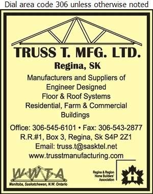 Truss T Mfg Ltd - Building Materials Digital Ad