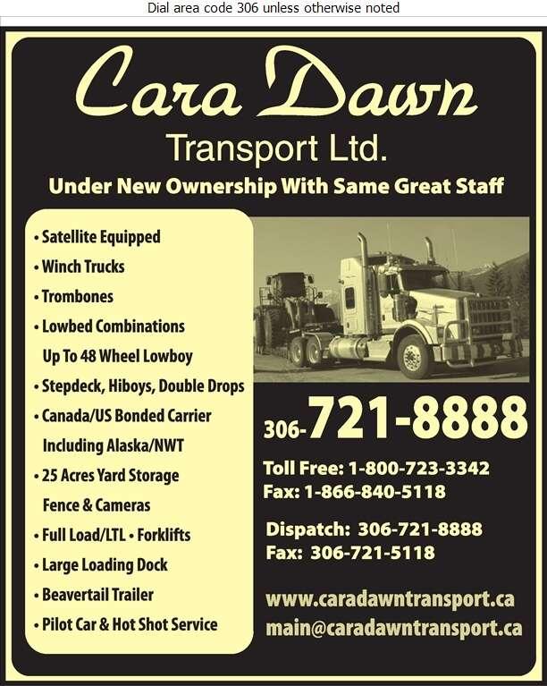 Cara Dawn Transport 2019 Ltd - Trucking Digital Ad