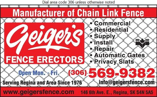 Geiger's Fence Erectors - Fences Digital Ad